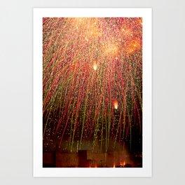 Fireworks over Jerusalem Art Print