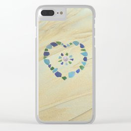 Seaglass heart Clear iPhone Case