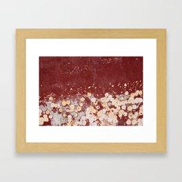 White Dots on Red - JUSTART (c) Framed Art Print