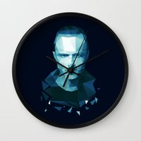 jesse pinkman Wall Clocks featuring Jesse Pinkman by Dr.Söd
