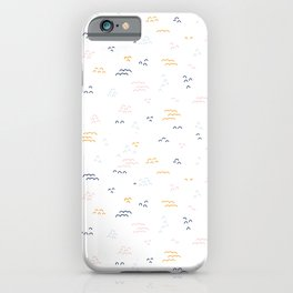 Doodle Lumps Scribbles Abstract Coordinate iPhone Case