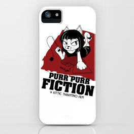 Purr Purr Fiction iPhone Case