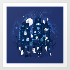 Midnight in Ghost Town Art Print