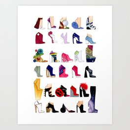 Which Shoe Do I Wear Today? Art Print