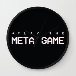 Play the Meta Game Wall Clock