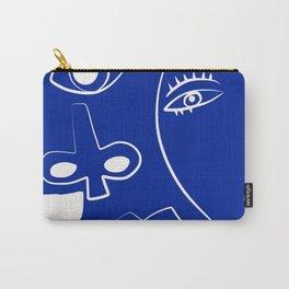 Blue mood portrait Carry-All Pouch