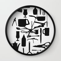 kitchen Wall Clocks featuring Kitchen by ValD
