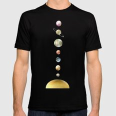 solar system Mens Fitted Tee MEDIUM Black