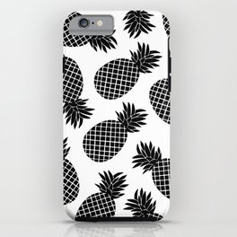 Pineapple In Black iPhone Case