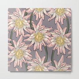 Big lotos flower pattern Metal Print