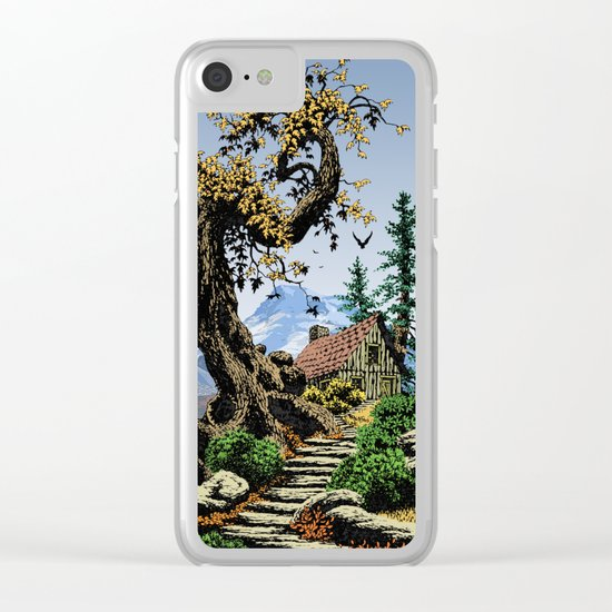 BLUE RIDGE OAK AND KOMA KULSHAN Clear iPhone Case