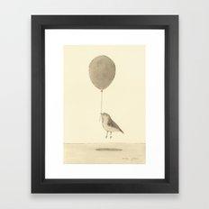 bird with a balloon Framed Art Print