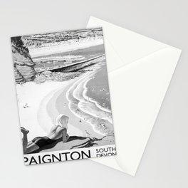 retro monochrome Paignton Stationery Cards