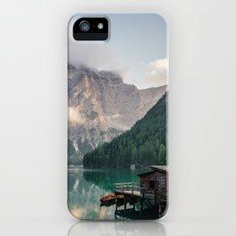 Mountain Lake Cabin Retreat iPhone Case