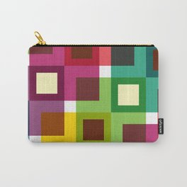 Geometric Pattern 11 (Colorful squares) Carry-All Pouch