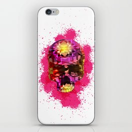 Skull with Crystal Polygon iPhone Skin