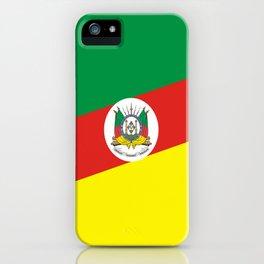 flag of rio grande do sul iPhone Case