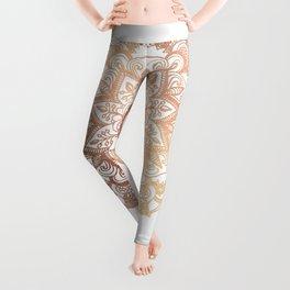 Mandala Rose-Gold Shine Leggings