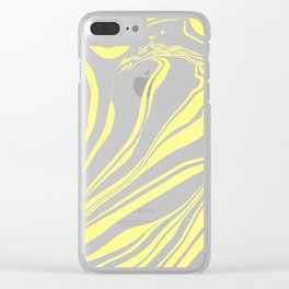 Yellow Marble Ink Watercolor Clear iPhone Case