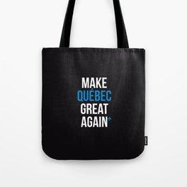 Make Quebec Great Again MQGA fleur de lys black Tote Bag