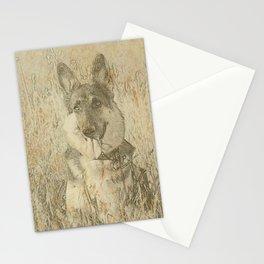 Loyal German Shepherd Stationery Cards