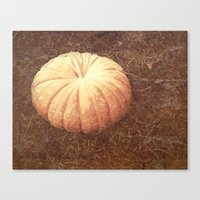 pumpkin Canvas Prints featuring Pumpkin by L Jehle   Yellowstone Photo  Studio