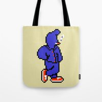 earthbound Tote Bags featuring B.B. Gang - Mother / Earthbound Zero by Studio Momo╰༼ ಠ益ಠ ༽