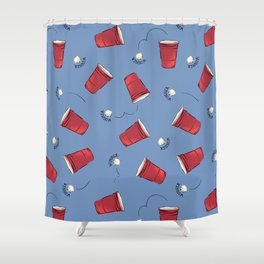 Beer Pong Winner Shower Curtain