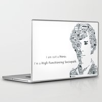 cumberbatch Laptop & iPad Skins featuring Benedict Cumberbatch by Ron Goswami
