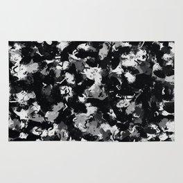 Shades of Gray and Black Oils #1979 Rug