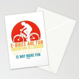 E-bike bicycle battery electric spell Stationery Cards