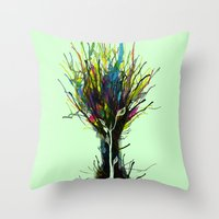 creativity Throw Pillows featuring Creativity by Tobe Fonseca