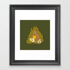 Bitcoin Miner T-shirt Bear Framed Art Print