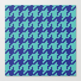 Houndstooth - Blue & Turquoise Canvas Print