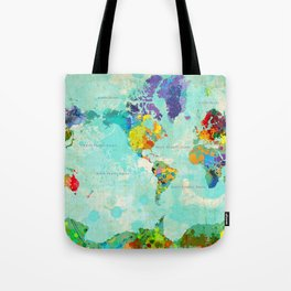 World Map - 8 Tote Bag