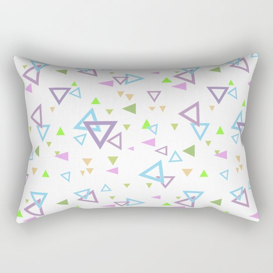 Abstract triangles pattern with triangular Rectangular Pillow