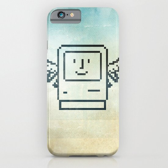 pixel mac with wings iPhone & iPod Case