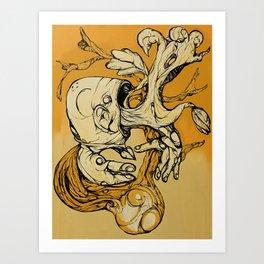 Wood Vomit.. Art Print