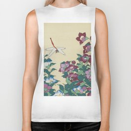 Hokusai (1760-1849) Bell-flowers and Dragonfly Biker Tank