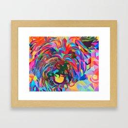 Abstract Doggo Framed Art Print