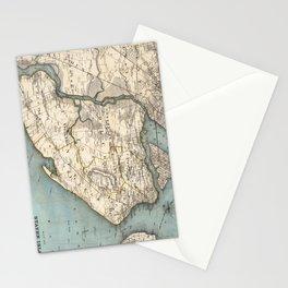 Vintage Map of Staten Island NY (1896) Stationery Cards
