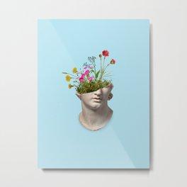 Greek Statue Collage Metal Print