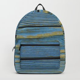 Wood Planks - Blue/Yellow Backpack