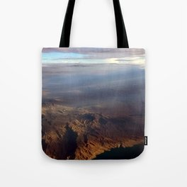 Mountains above Tote Bag