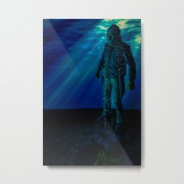 Only way to kill Jason is to send him back to his original resting place where he drowned in 1957... Metal Print
