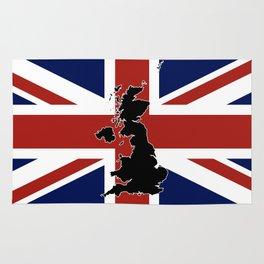 UK Silhouette and Flag Rug