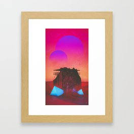 kicked the everyday Framed Art Print