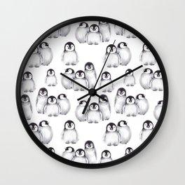 Baby Penguins pattern Wall Clock