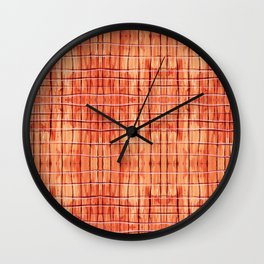 Red Chile Plaid Wall Clock