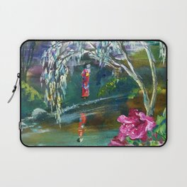 Japanese Garden Flowers Laptop Sleeve